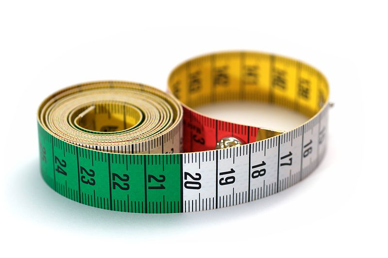 Tape measure colored